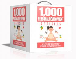 1000 Personal Development Articles Pack